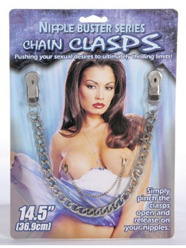 "Chain Clasps 14.5"" Metal Chain ~ Silver"